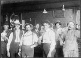 Kockritz Hotel, unidentified men at bar, Kalama, Washington, circa 1900-1909