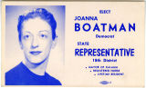 Joanna Boatman campaign materials, Kalama, Washington, circa 1960-1965