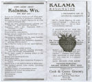 Advertisement for Kalama, Washington, circa 1930-1935