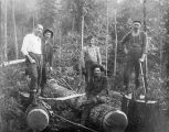Loggers in Kalama, Washington area, circa 1889-1905