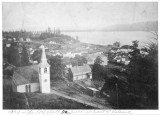 Kalama, Washington from hill above downtown, looking southwest, 1902-1910