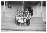 Students and teachers of Cloverdale School, Kalama, Washington, circa 1930-1949