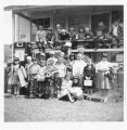 School children at the Cloverdale School, Kalama, Washington, circa 1940-1959