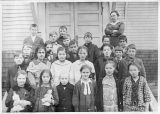 School children and teacher, Kalama, Washington, circa 1911-1920