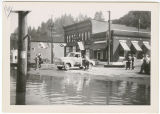 First and Fir Streets during flood, Kalama, Washington, 1948