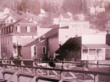 Buildings at the waterfront, Kalama, Washington, circa 1880-1900