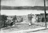 Looking down Fir Street, Kalama, Washington, circa 1880-1900