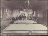 Men in pool hall in Kalama, Washington circa 1890-1903