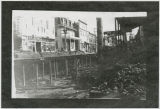 Downtown Kalama wooden streets being dismantled, Kalama, Washington, 1914