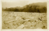 Glacier ice in South Fork Nooksack River, Saxon, WA, circa 1920