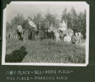 Bill Galbraith with the Place family, horses and a donkey, Acme, Washington, circa 1910