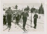 Glen Hellyer and friends skiing at Mt. Baker, circa 1933