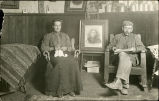 Trescott album: Estella and one of her husbands, Norton County, Kansas, circa 1890