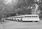 Ritzville school busses and drivers, Ritzville, Washington, August 31, 1939