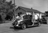 Safeway car float, Ritzville, Washington, February 9, 1939