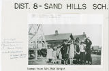 Sand Hills school, cottage and windmill, Adams County, Washington, 1925