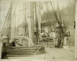 "The steamboat the ""Charles R. Spencer"" photographed from a sailing ship on the Columbia..."